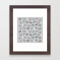 For the Birds Pattern Framed Art Print