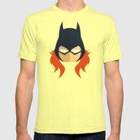 Batgirl Mens Fitted Tee Lemon SMALL