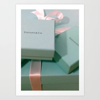 Pile Of Boxes Tiffany Bl… Art Print