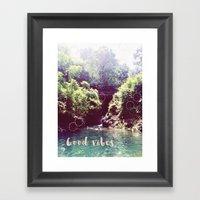 good vibes! - summer wanderlust - Framed Art Print