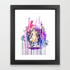 I'm stronger than my fears.  Framed Art Print