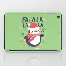 Fa la la penguin iPad Case