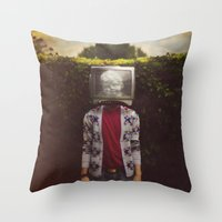 This TV Haze Sucks Me Th… Throw Pillow