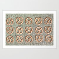 Pretzel Party Art Print