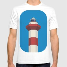 lighthouse Mens Fitted Tee SMALL White