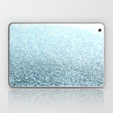 Ice Blue Glitter Sparkle Laptop & iPad Skin
