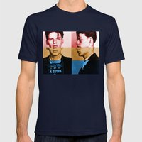 Classic Frank Sinatra  Mens Fitted Tee Navy SMALL