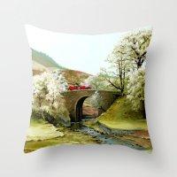 English Countryside Throw Pillow