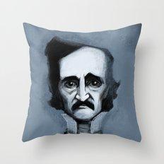 Mr. Alan Poe Throw Pillow