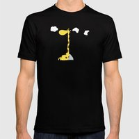 The greedy giraffe Mens Fitted Tee Black SMALL