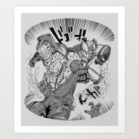 Double Rocket Punch!! Art Print