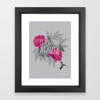 Finding Beauty Framed Art Print