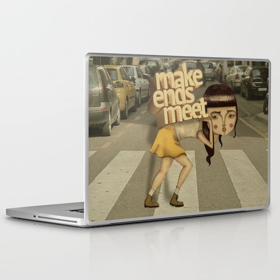 make ends meet Laptop & iPad Skin