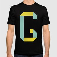 G 001 Mens Fitted Tee Black SMALL