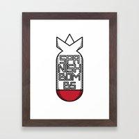 SPANISH BOMBS!  Framed Art Print