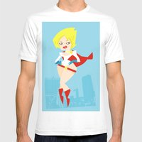 Powergirl Mens Fitted Tee White SMALL