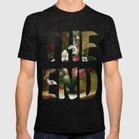The END Mens Fitted Tee Tri-Black SMALL