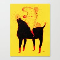 Yellow Rider Canvas Print