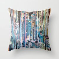 RIPPED STRIPES Throw Pillow