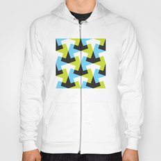 Geometric pattern (green + blue) Hoody