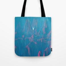 Neon Waterfalls Tote Bag