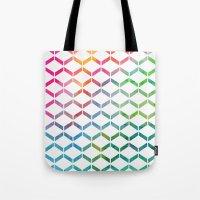 Rainbow Geometric Tote Bag