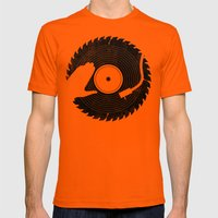 That DJ sure can cut Mens Fitted Tee Orange SMALL