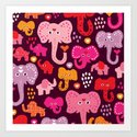 Elephant india parade Art Print