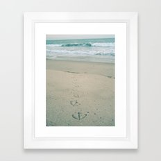 Footprints Framed Art Print
