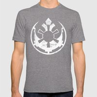 Rebel Empire Mens Fitted Tee Tri-Grey SMALL