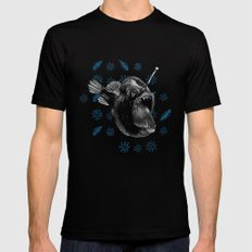 Ms Anglerfish SMALL Black Mens Fitted Tee