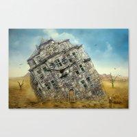 Die Villa in der Wüste ! Canvas Print