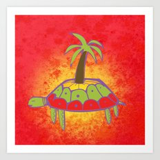 Pacific Turtle Art Print