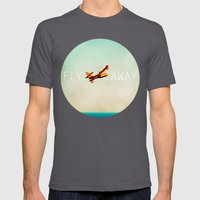 Fly Away Mens Fitted Tee Asphalt SMALL