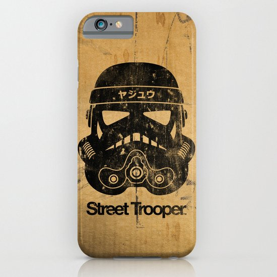 BEAST Street Trooper Head (Black on Cardboard) iPhone & iPod Case