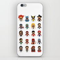 iPhone & iPod Skin featuring Screaming Heroes by That Design Bastard