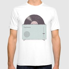 High Fidelity Toaster SMALL White Mens Fitted Tee