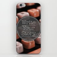 Write Your Story iPhone & iPod Skin