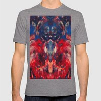 Omen Art Mens Fitted Tee Tri-Grey SMALL