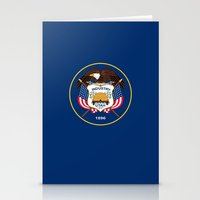 Utah State Flag - Authen… Stationery Cards