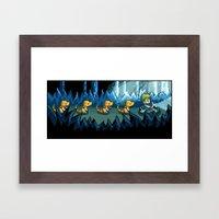 Pixel Jurassic World Framed Art Print
