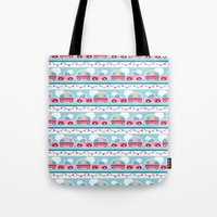 Glamping stripes Tote Bag