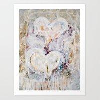 winter Hearts-2 Art Print