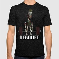 Crossfit Zombie By Ronky… Mens Fitted Tee Tri-Black SMALL