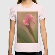 Gratitude Womens Fitted Tee Light Pink SMALL