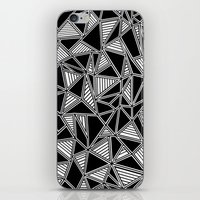 Abstract Outline Lines Black iPhone & iPod Skin