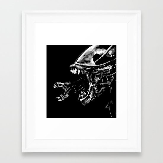They're coming outta the fucking walls Framed Art Print