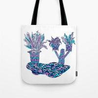 sunset garden Tote Bag