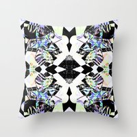 Graphic Zebra  Throw Pillow
