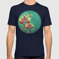 Fall is here II Mens Fitted Tee Navy SMALL